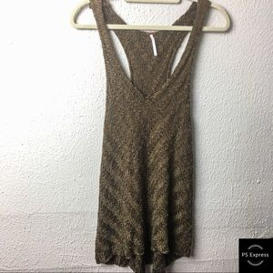 Free People chunky knit olive green tank